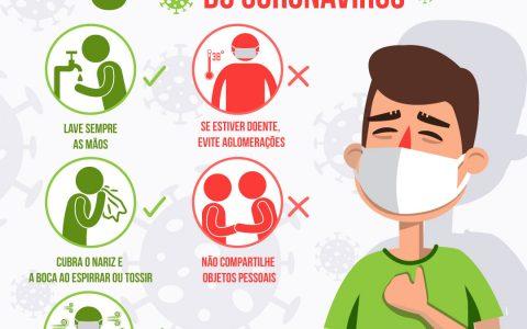 CINCO PASSOS PARA SE PREVENIR DO CORONAVÍRUS